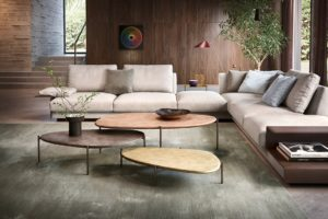 Ishino Table is a new table range for Walter Knoll and brings references to pebbles.