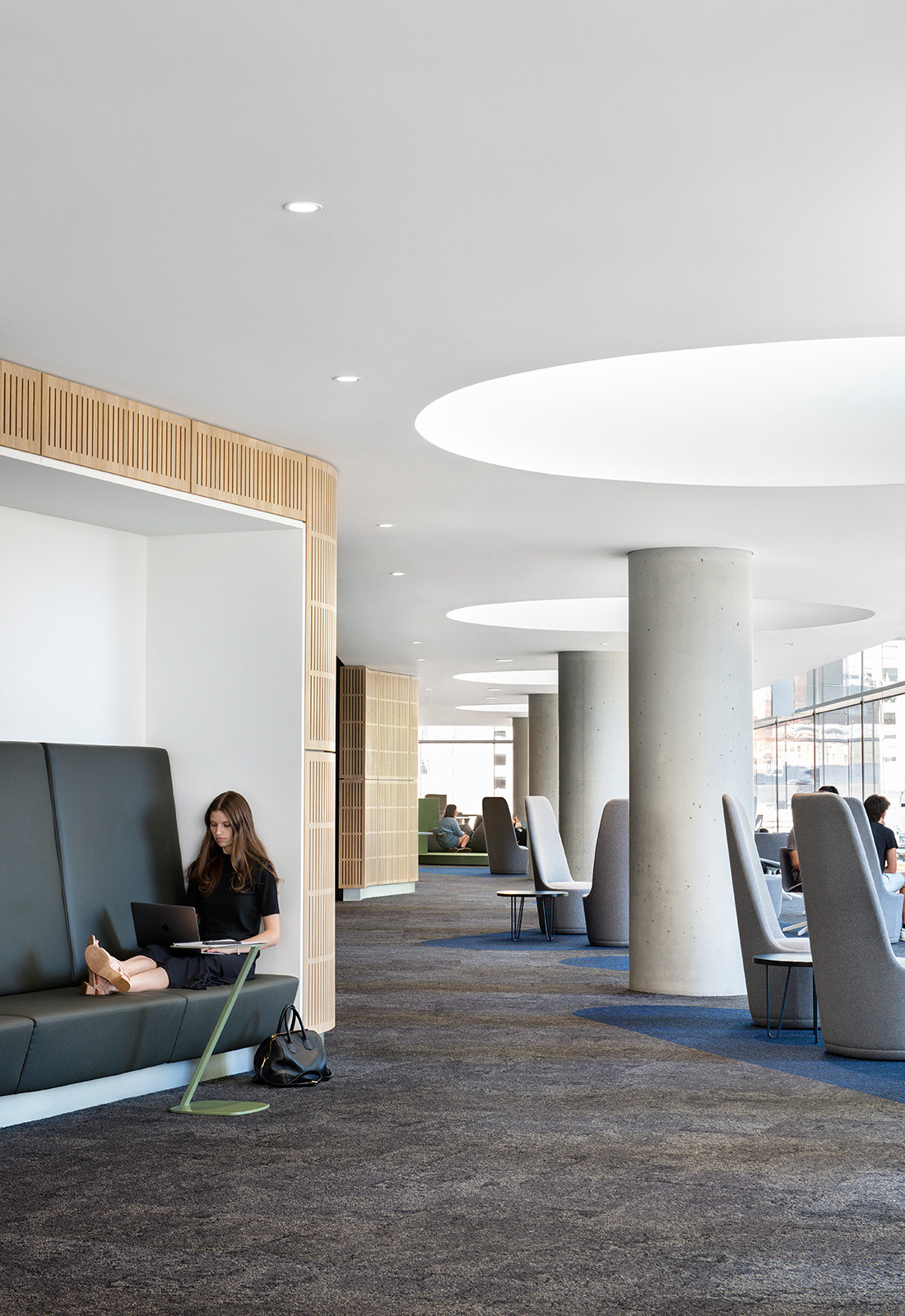 FJMT aimed to generate as much informal space as possible within the library at UTS Central. Photo by Nicole England.