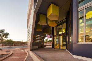 Karratha Central Healthcare Super Clinic by Cox Architecture (formerly CODA) is a striking building.