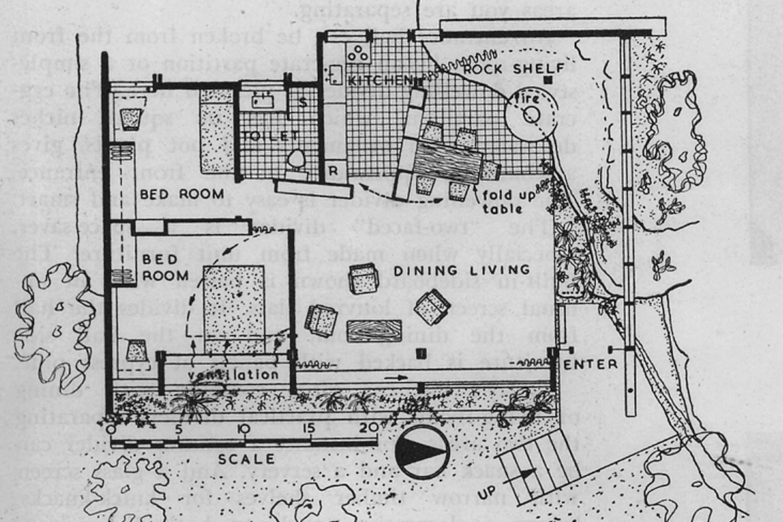 Hand-drawn floor plans of Derek Wrigley's OB2.