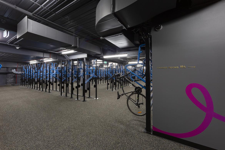 Bike racks inside 130 Lonsdale Street