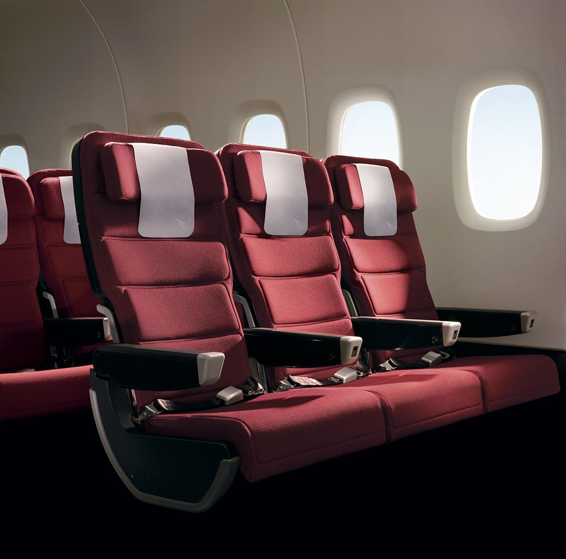 2009 Good Design Award winner – Marc Newson's Qantas A380 economy seats.