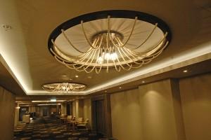 Satelight bespoke light fittings for Mon Komo Hotel, Queensland