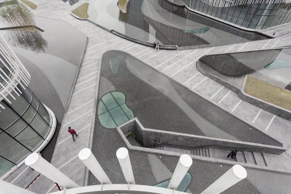 palm island hassell aerial paving