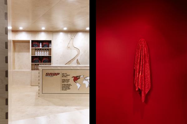 snap fitness sydney gym interior design detail
