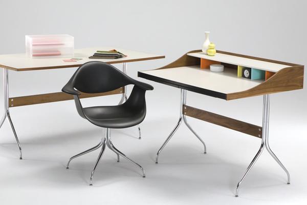 swag leg desk and chair nelson herman miller