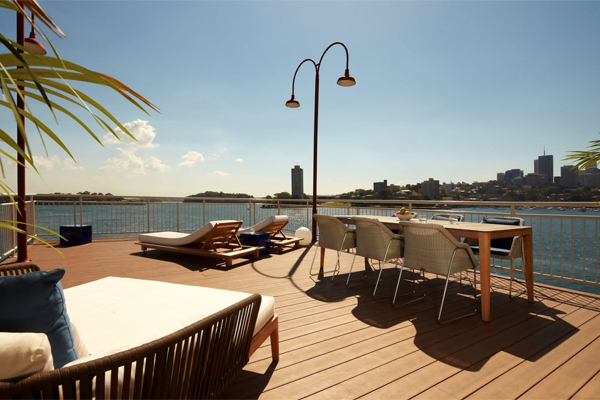 private gantry balcony sebel pier one walsh bay