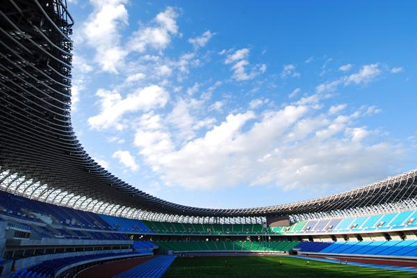 Main Stadium for The World Games 2009, Kaohsiung, Taiwan R.O.C. Photos by Fu Tsu Construction Co., Ltd