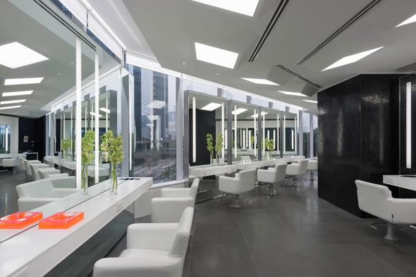 OneSpace_Design_BruneBlonde Hair Salon_Grand Hyatt HongKong Indesign Womens Styling Area