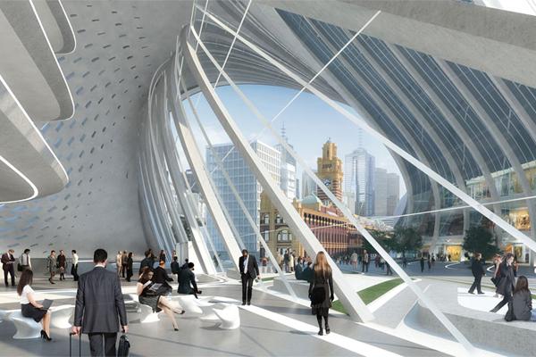 ZAHA HADID ARCHITECTURE & BVN ARCHITECTURE FLINDERS STREET STATION MELBOURNE