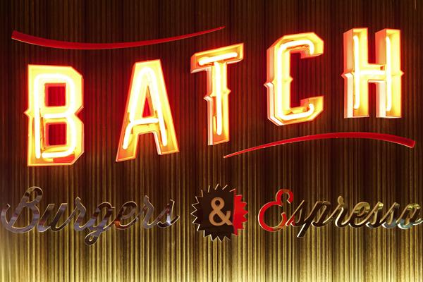 neon signage batch burger bar kirribilli giant design