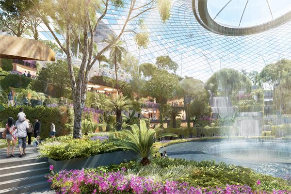 Changi Airport Moshe Safdie Jewel Garden