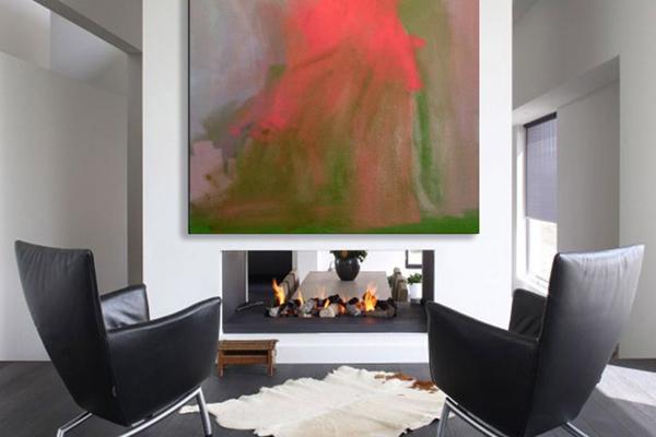living room fireplace united artworks render