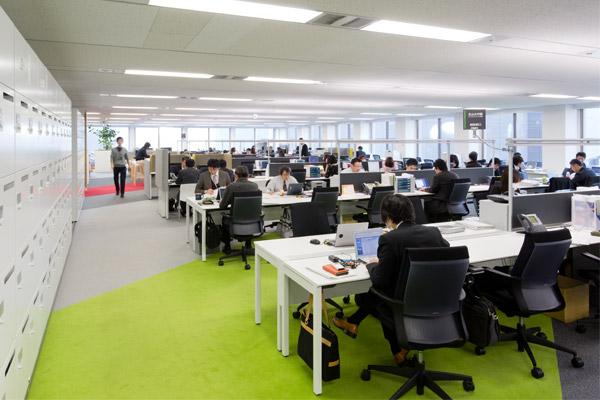 open layout office. Kokuyo_engineer_area. Here, The Open Plan Layout Office