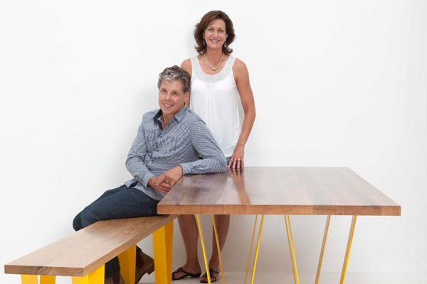 David-&-Tamara-Gorrie-with-Sabine-W-Table-&-Bench-Seat