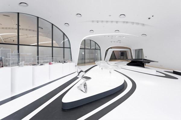 Zaha hadid 39 s fluid alimunium cultural centre for Parametric architecture zaha hadid