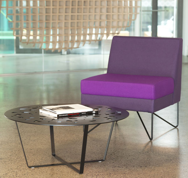 Escape-chair-without-arms---purple---random-metal-coffee-table