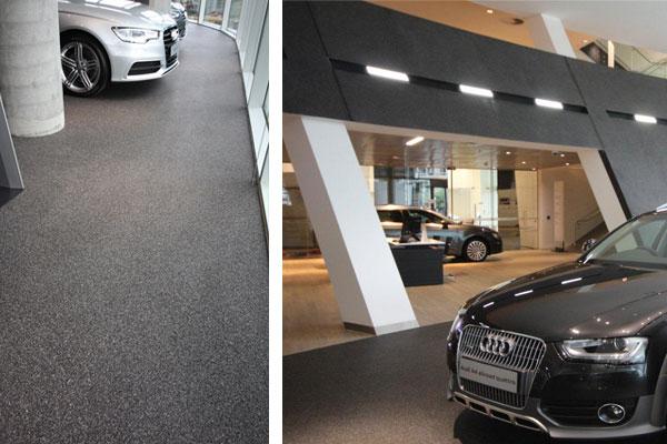 Why Audi Centre Chose Quartz Carpet & Vorwerk Tiles