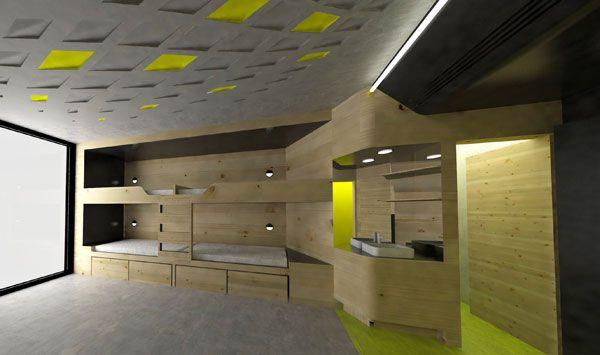 New y shape hostel designed for youth indesignlive for Hostel design