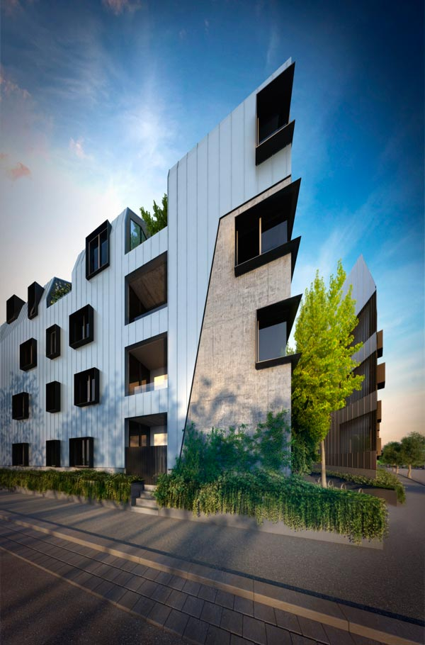 North melbourne residential project carves a new niche for Apartment design melbourne