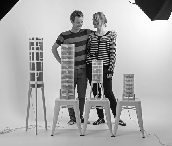 Peter Harding and Asa Jonasson, lighting designers and founders of Phoebe Lamps