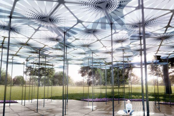 AL_A reveals high-tech forest canopy design for MPavilion 2015