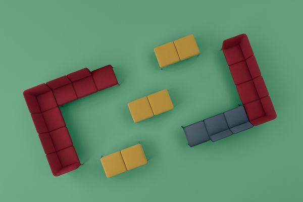 Pedrali's modular sofa system Social offers endless combinations