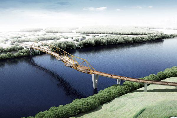Urban Design in Landscape Architecture - KI Studio for Nepean River Green Bridge
