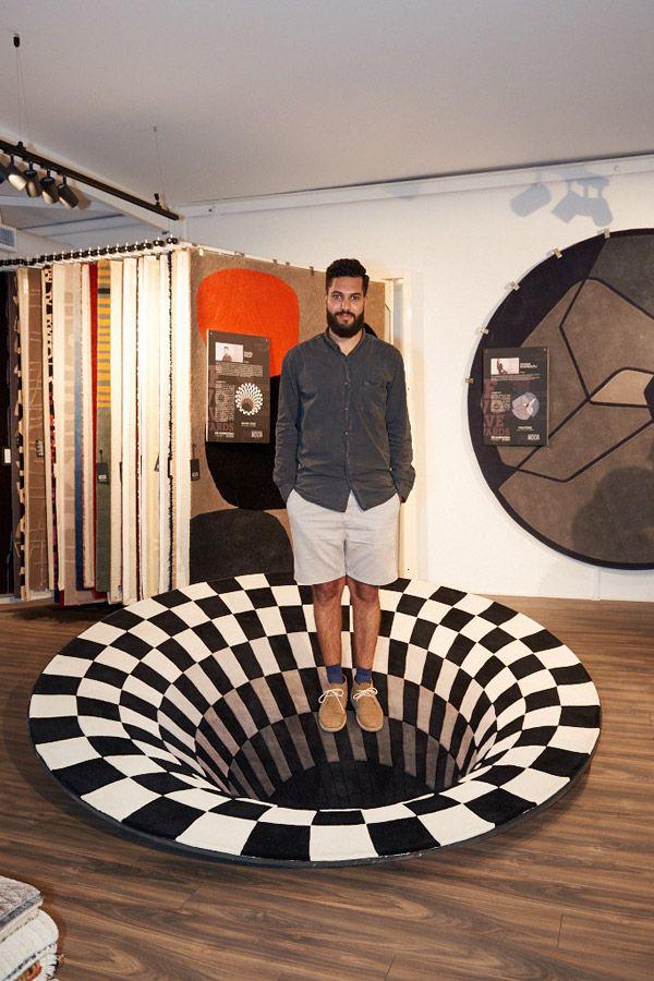 hole malik rugs rug daniel illusion optical evolve winners competition indesignlive announced designer exploration pushes boundaries adventurous