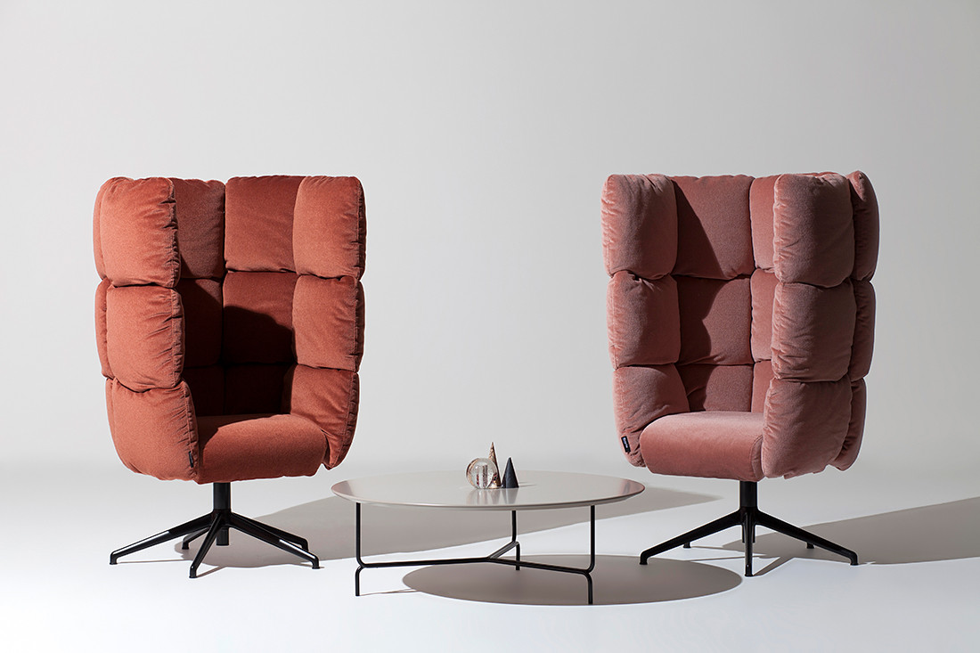 The playfully proportioned Undecided collection by Raffaella Mangiarotti and Ilkka Suppanen for Manerba.