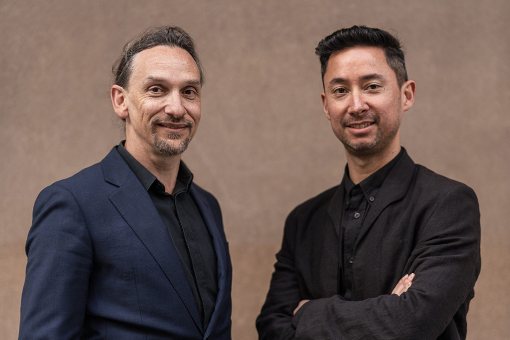 (L-R) Jefa Greenaway and Tristan Wong are the Venice Biennale 2020 creative directors for the Australian Pavilion. Photo by Anthony Richardson.