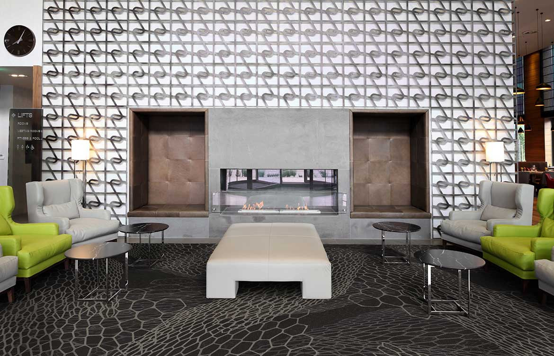 Grey Patterned Fireplace Immix