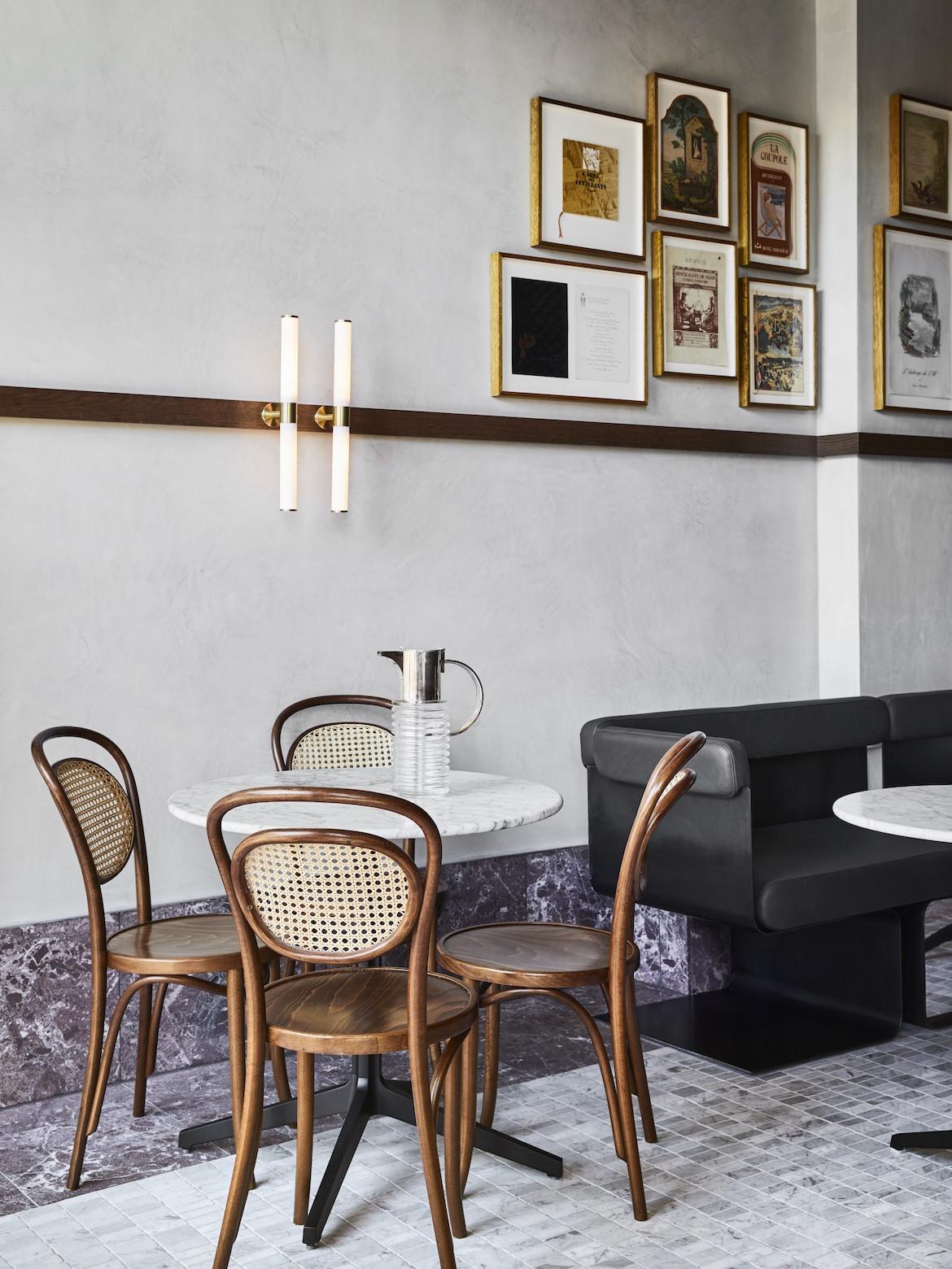 A table in Frederic Bistro by Léo Terrando