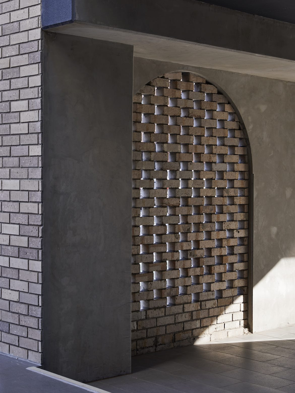 External brick walls of the McCluskey Studio and SJB designed medical practice.