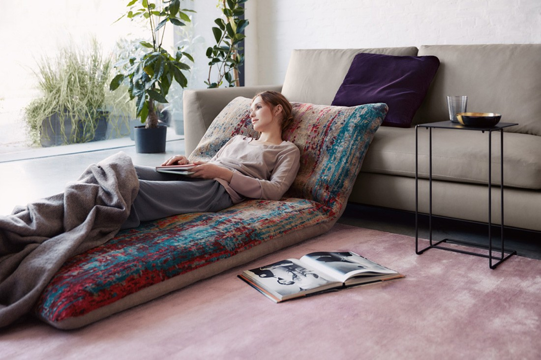 The Badawi Pillows use Walter Knoll's carpet range.