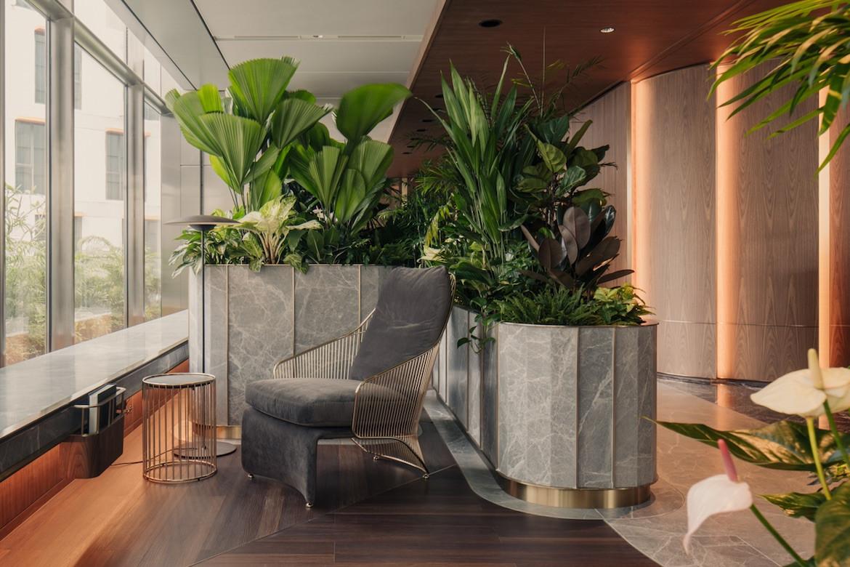 Lounge area in the Citi Wealth Hub