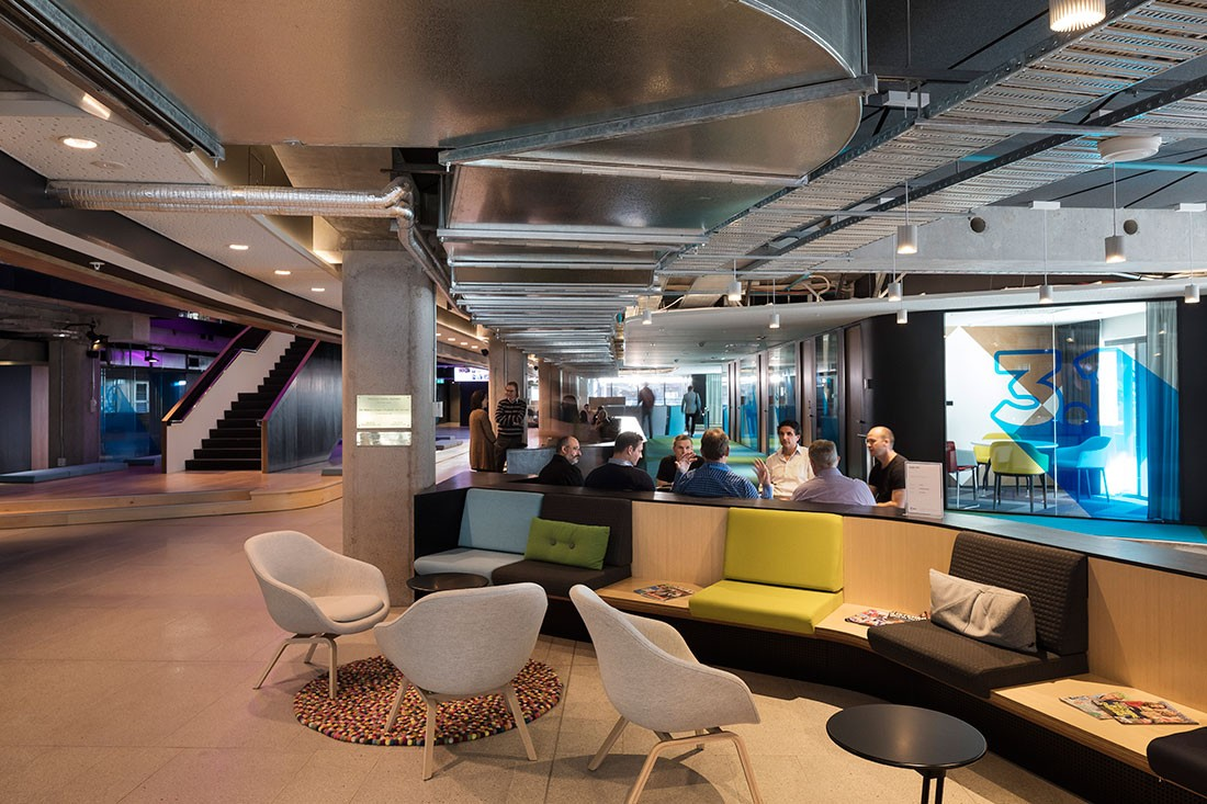 Blade runner inspired workplace by warren and mahoney - International interior designers ...