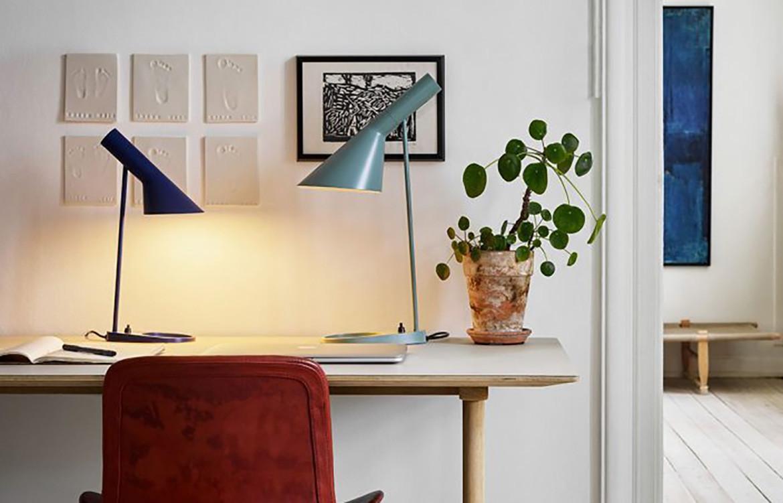 AJ Lamps on Desk