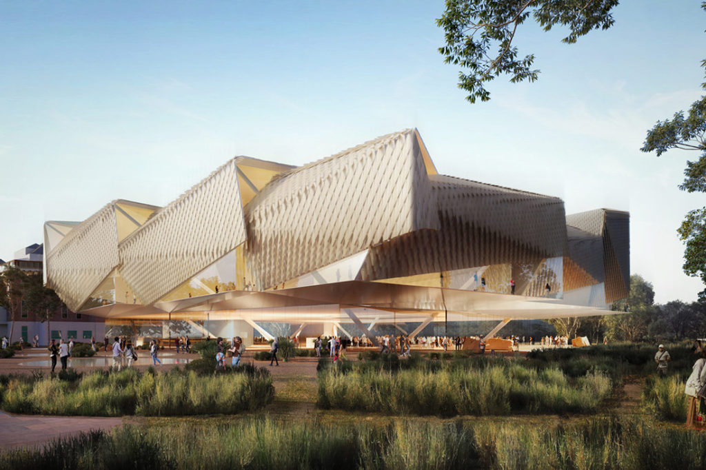 Concept designs for Aboriginal Art and Cultures Centre in Adelaide by Diller Scofidio + Renfro and Woods Bagot