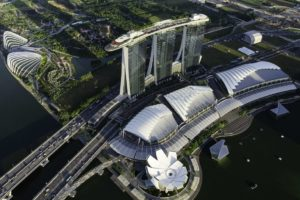Aerial View of Marina Bay Sands, courtesy of Marina Bay Sands.