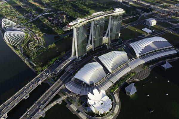 Aerial View of Marina Bay Sands, courtesy of Marina Bay Sands.