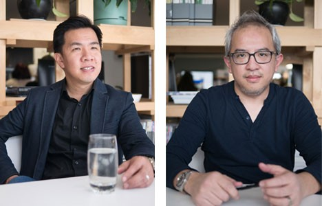 (L-R) Eid Goh and Albert Mo of Architects EAT.