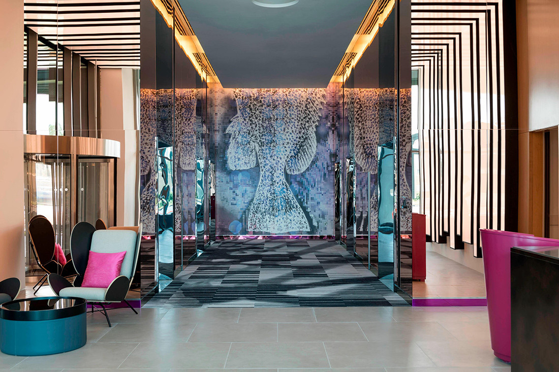 Aloft Deira City Centre Dubai, designed by Justin Wells whilst at Studio HBA