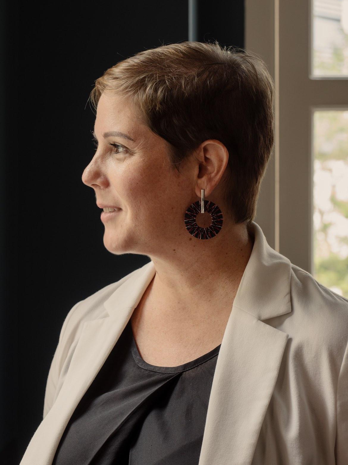 Angela Spathonis side profile
