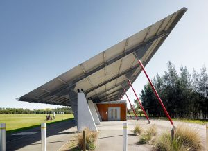 The Archery centre for the Sydney 2000 Olympics by Peter Stutchbury
