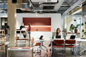 People working in the Architectus' Melbourne Entrepreneurial Centre office