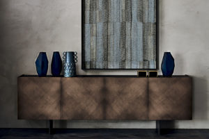 Arizona Sideboard Front View-Brushed-Brown