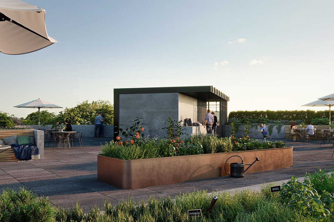 Artisan Residences rooftop.