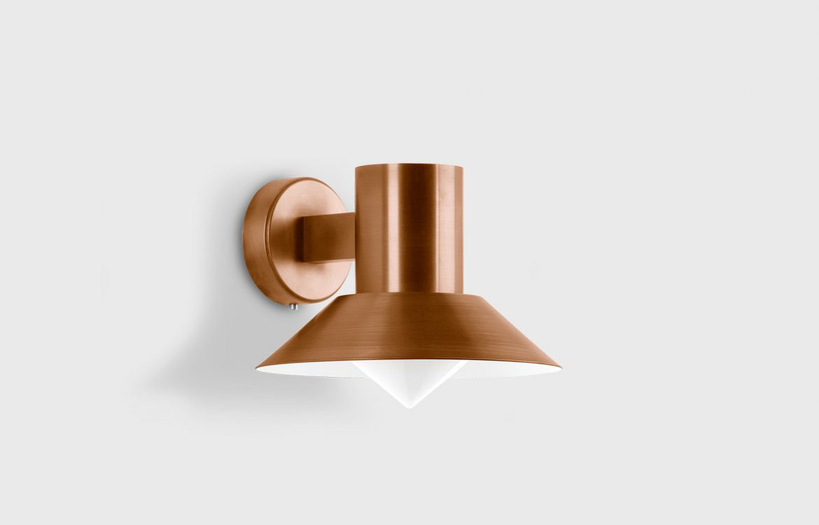 Outdoor Wall Luminaire Rose Gold Detailing