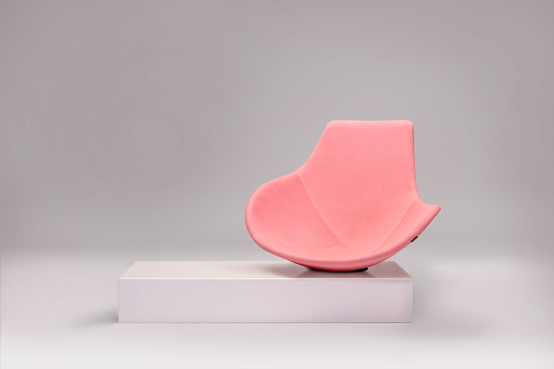 The Babled easy chair is an experimental piece showing through the Offecct Lab.